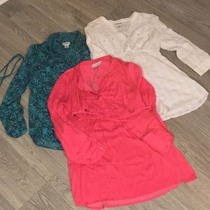 Maternity lot of three tops. All size medium